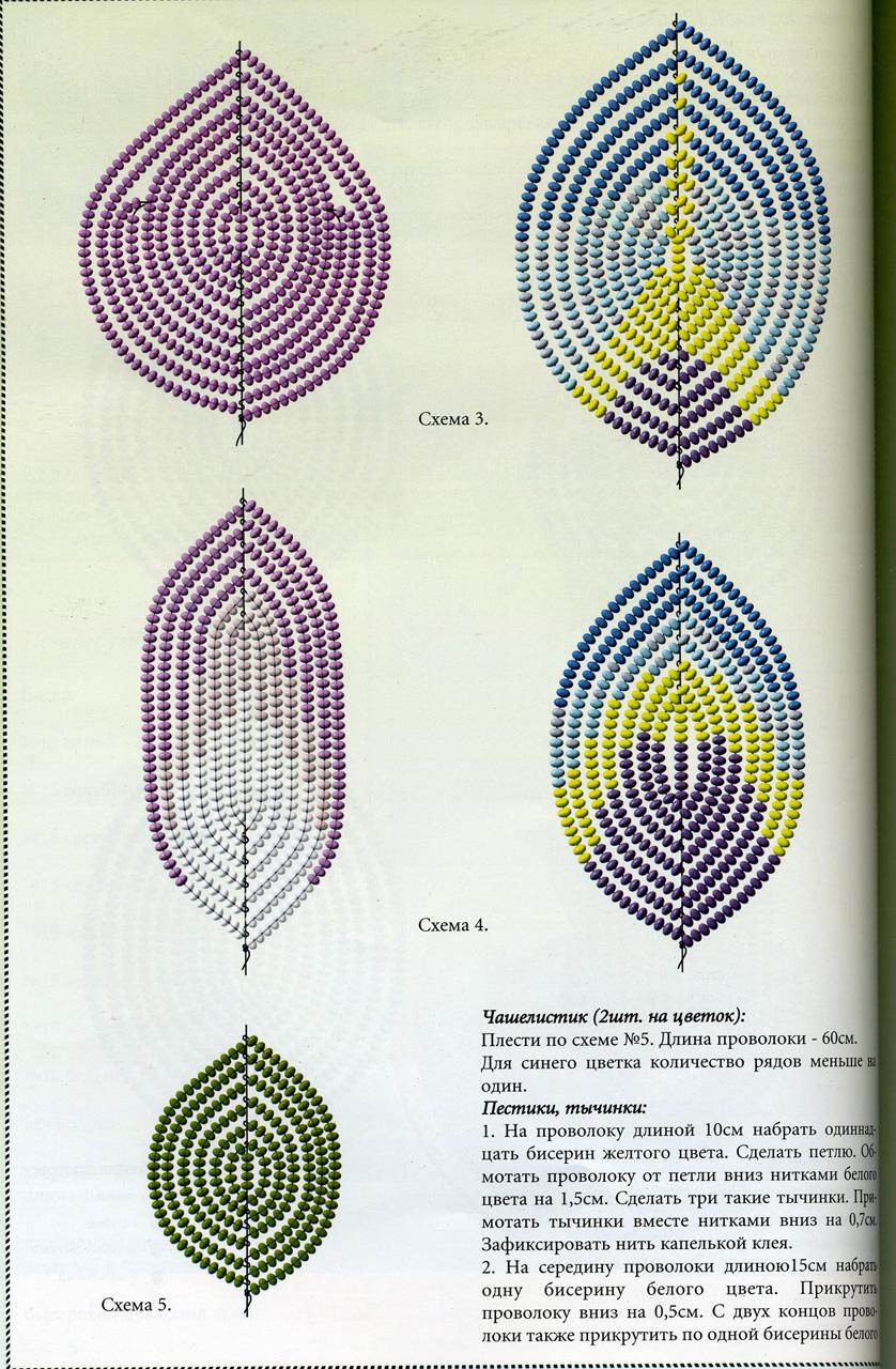 Схема гладиолус из бисера
