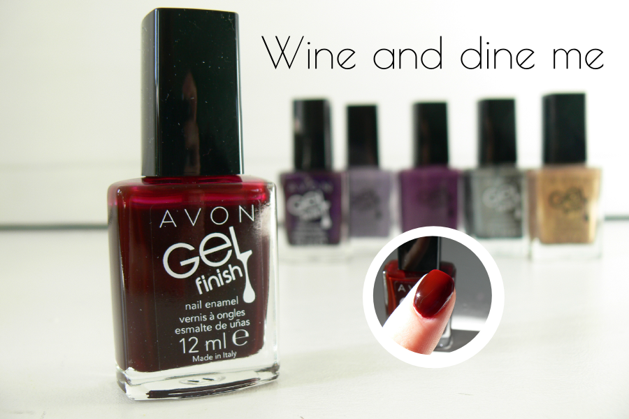 Avon - GELfinish - Wine and dine me - swatche