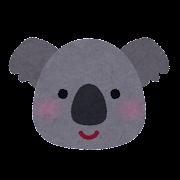 コアラの顔のイラスト