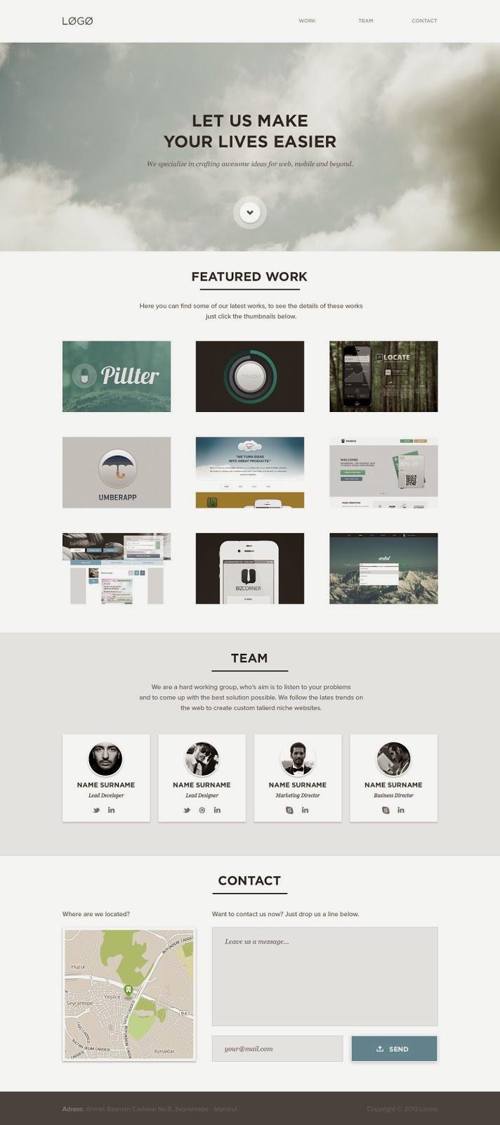 Free Website PSD Template
