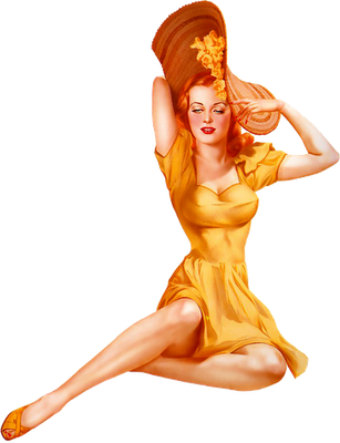 imagen png transparente pin up retro
