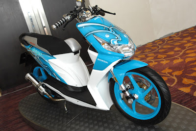 modify icon honda beat Blue colour modifikasi