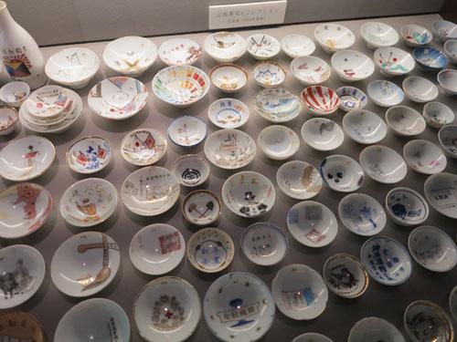Sake cups at Sakazuki Art Museum Ichinokura