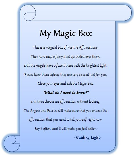 guiding light my magic box my guardian angel is my best friend 22 04 13. Black Bedroom Furniture Sets. Home Design Ideas
