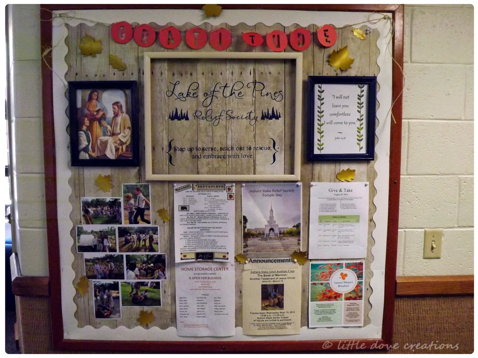 Little Dove Creations: fall relief society bulletin board