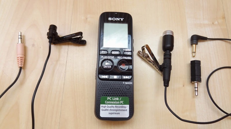 Sony Voice Recorder and Lapel Mics
