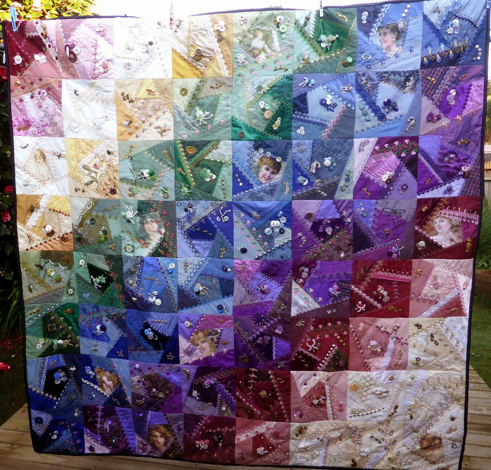 Vicki's Fabric Creations: Drum Roll............... - the Crazy ... : crazy quilt blogs - Adamdwight.com