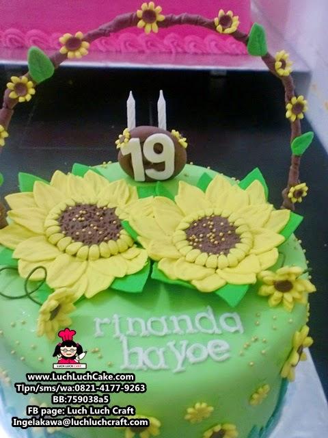 jual Kue Tart Bunga Matahari Daerah Surabaya Sidoarjo (Repeat Order)
