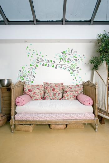 Stickers y vinilos decorativos en interiores ideas para - Stickers decorativos para dormitorios ...