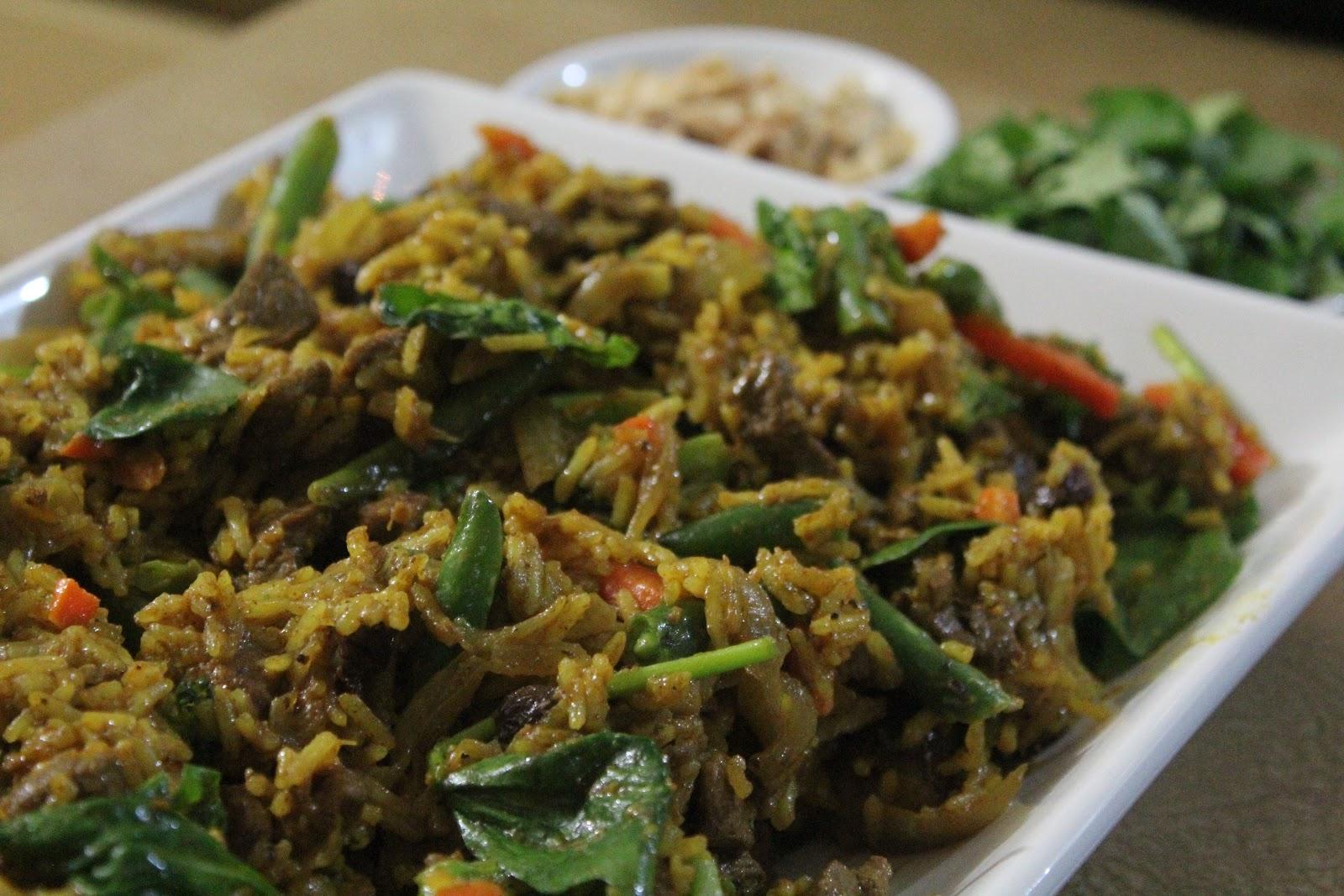 a dash of flavour lamb and cashew biryani
