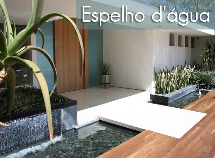 Espelho d gua em ambientes externos e internos decor for Zen type house exterior design