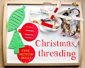 Christmas Threading for kids