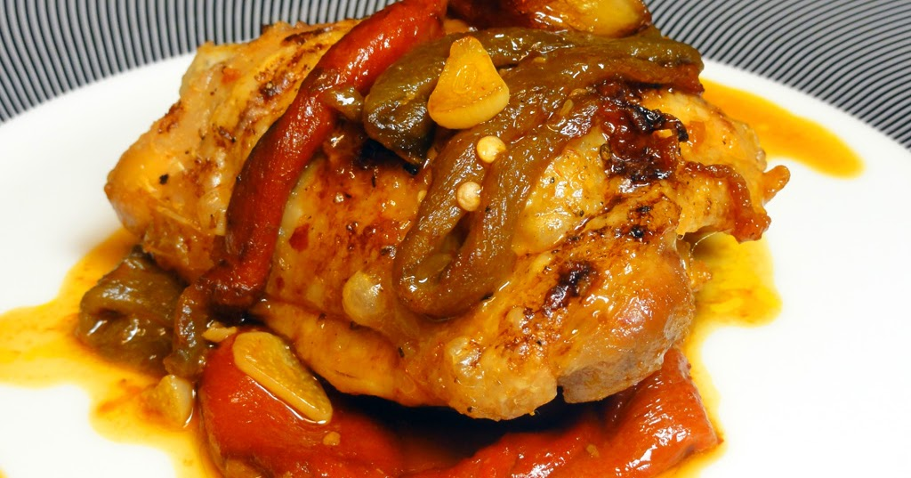 Cocinar para los amigos pollo asado con pimientos for Como cocinar filetes de pollo