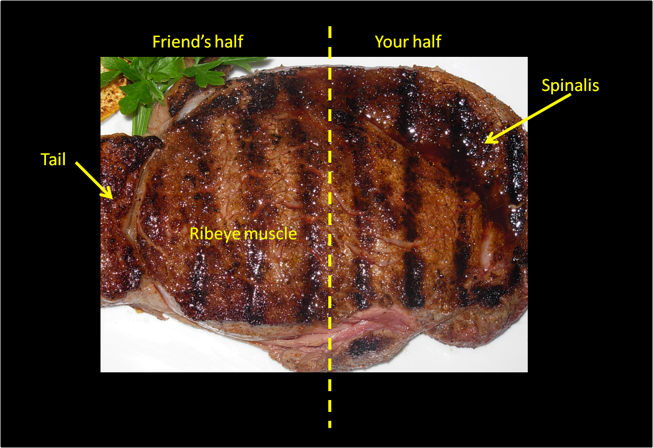 Steaks we see at a steak house restaurant .