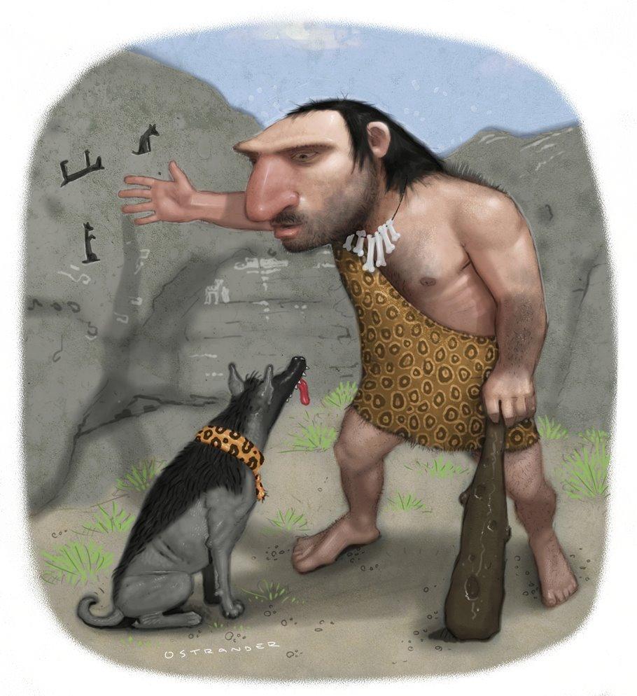 Man Carves Cave With Dog : Arte romano pelÍcula el hombre de la caverna