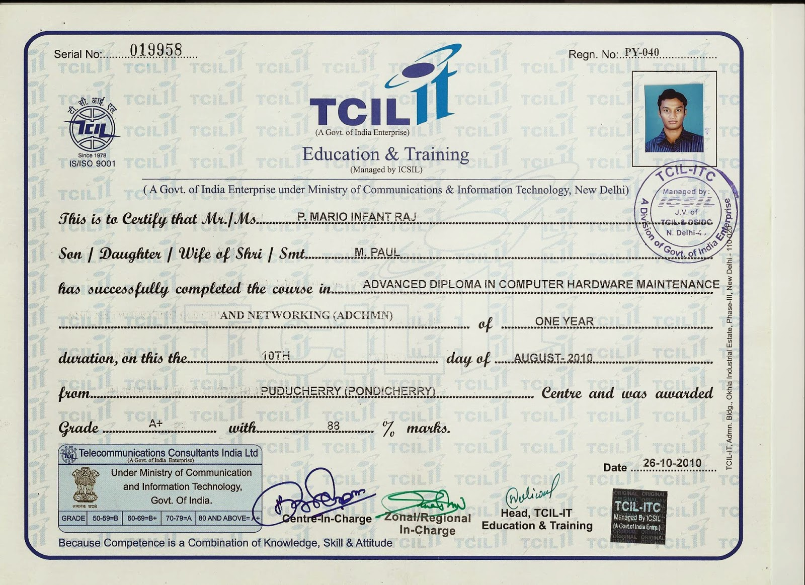 Hi tech global services computer services pondicherry he has made and attended many certificate programs on computer science and has 23 certificates on it as a slow work started working on day and night started xflitez Images