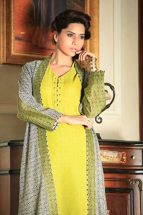 Gul Ahmed Semi Formal Wear Dresses 2014 Gul Ahmed Formal Wear