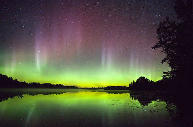 The southern lights or aurora