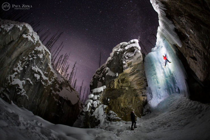 Ice Pillars, Stalactites and Climbers' Heaven in Haffner Creek, Canada