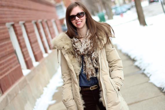 Tan Winter Jacket, Chambray, Leopard, Brown   StyleSidebar
