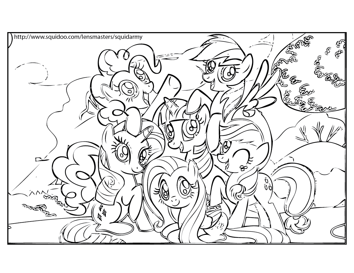 My Little Pony Coloring pages - Squid Army