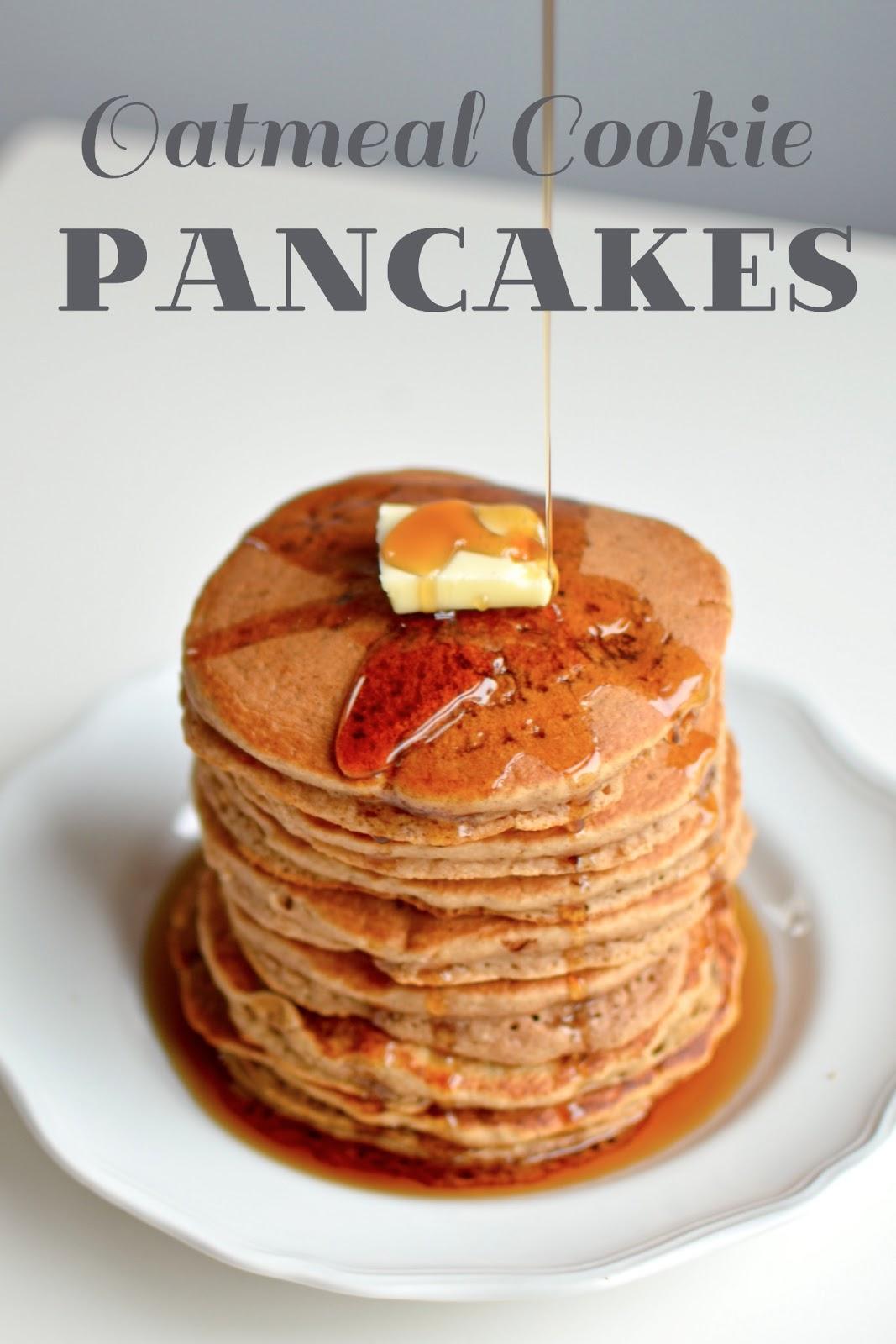 Yammie's Glutenfreedom: Oatmeal Cookie Pancakes
