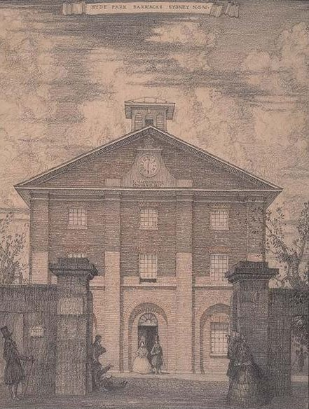 drawing of Hyde Park Barracks