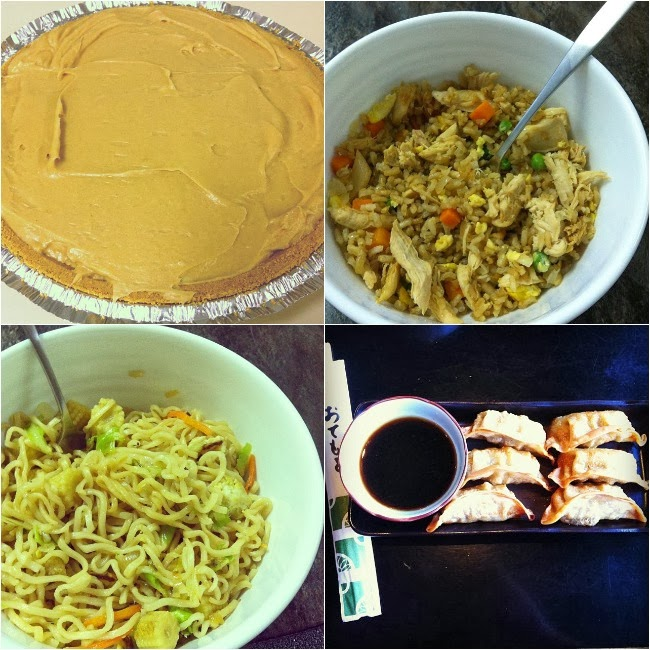 Peanut Butter Pie, Chicken Fried Rice, Chow Mein, Gyoza
