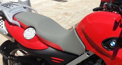 Asiento moto F650GS tapizado antideslizante