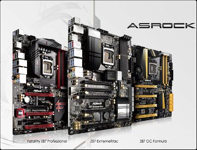 Lineup Motherboard ASRock Z87