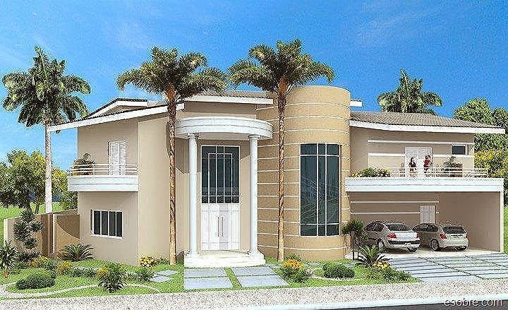 Fachadas de casas de sobrados veja 50 modelos lindos for Casas modernas redondas