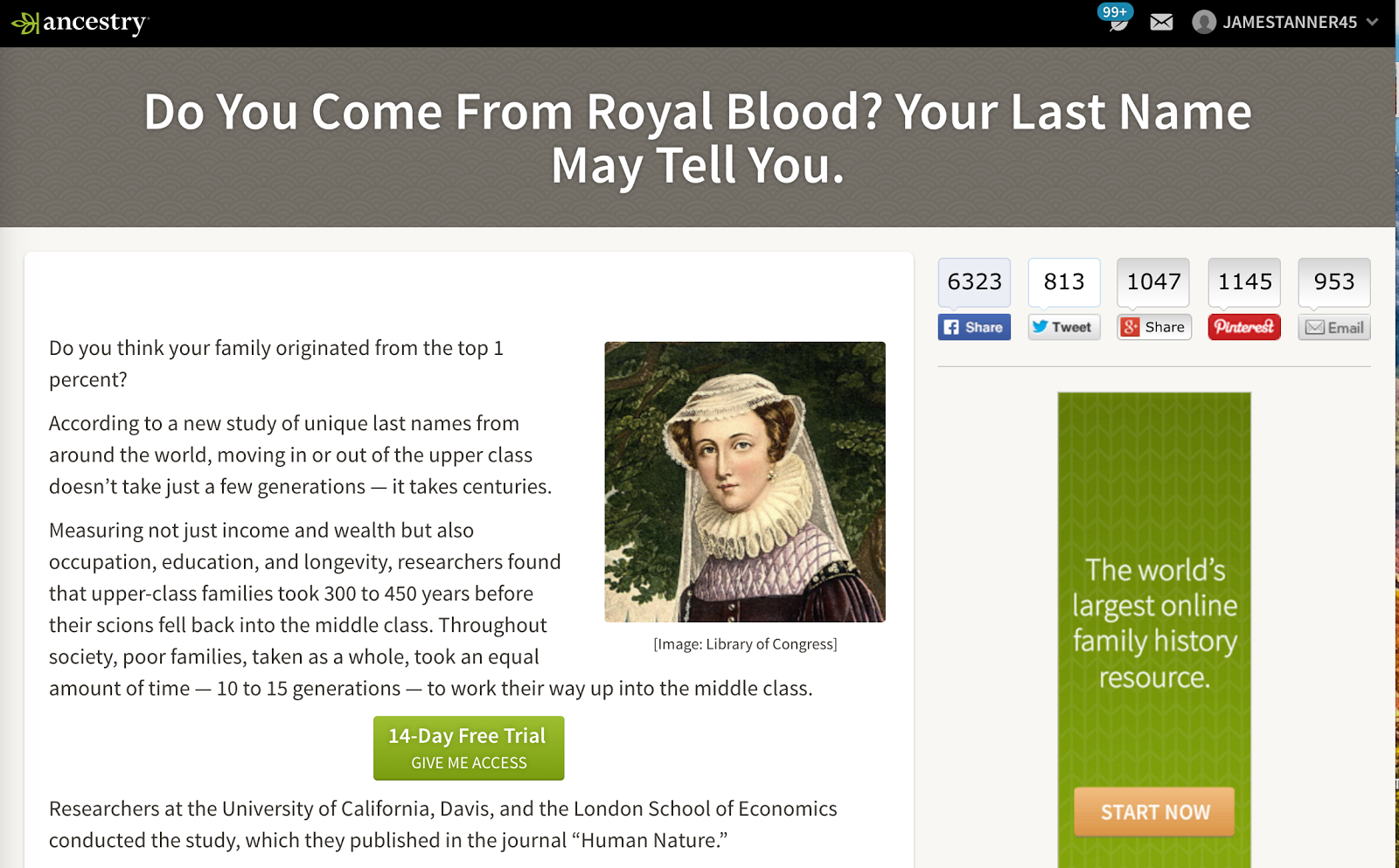 Does Your Last Name Indicate Royal Blood