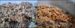 A base da sobremesa Gelado de Ano Novo é feita com bolachas trituradas misturadas com margarina