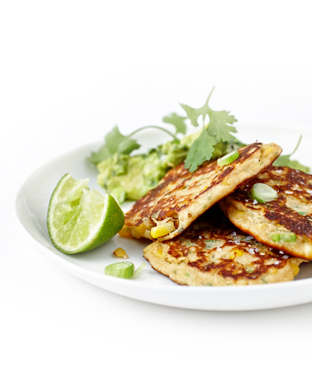 Spicy Corn & Shallot Fritters | Lush Loves