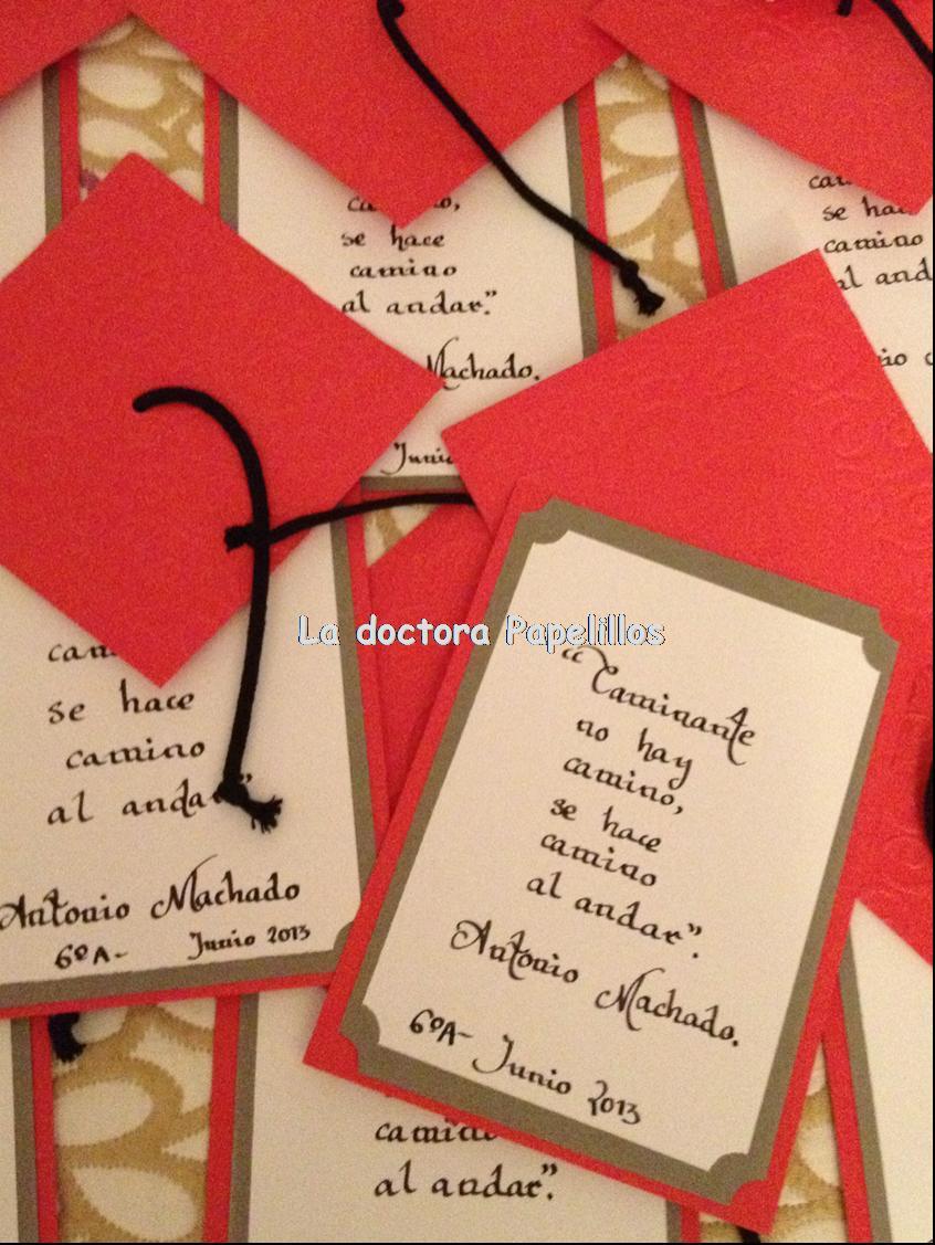 Para los profesores de Carmen, he hecho también tarjetas de
