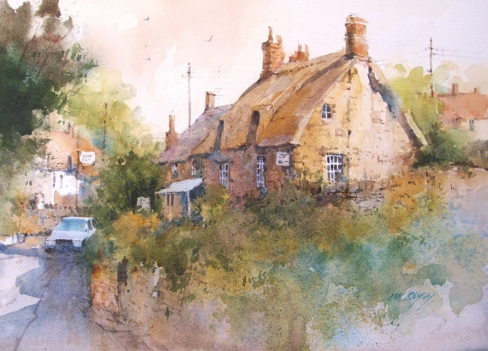 Ian ramsay watercolors here is a summer update of some of for Watercolor cottages