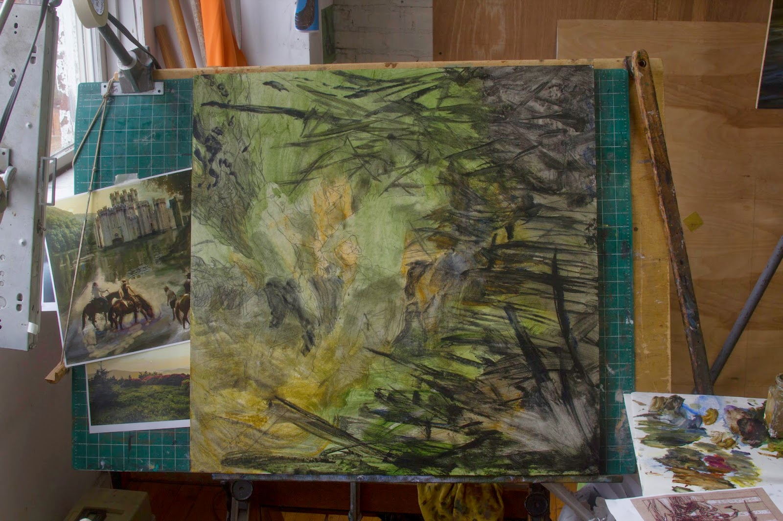 Forging the iron throne 2015 calendar painting for 39 a for Iron throne painting