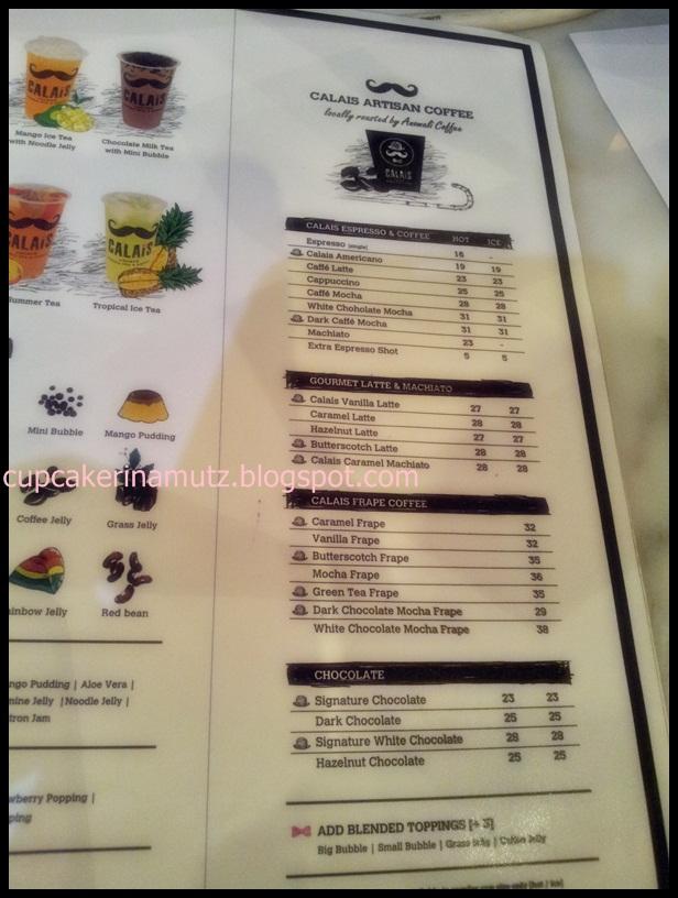 Kuliner jogja calais artisan bubble tea coffee rina for Z kitchen jogja menu