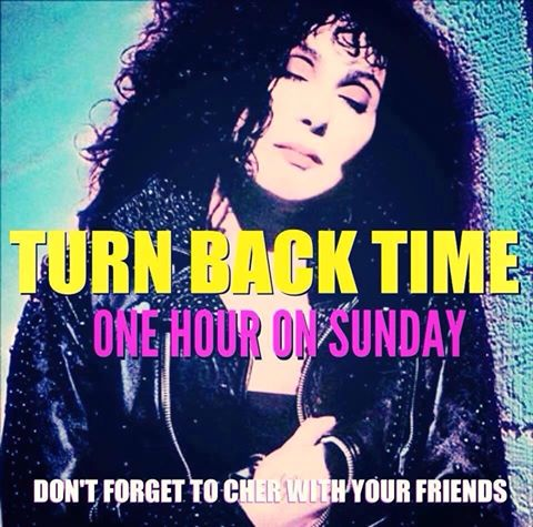This Weekend, Don't Forget To Get Your Cher On And 'Turn Back Time.'