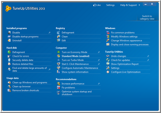 TuneUp Utilities 2013 Screen Shots