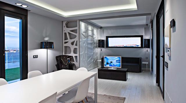Interior vivienda modular Resan - Aislada con lana de roca