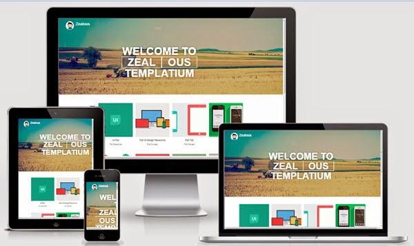 Zealous Bootstrap Blogger Template