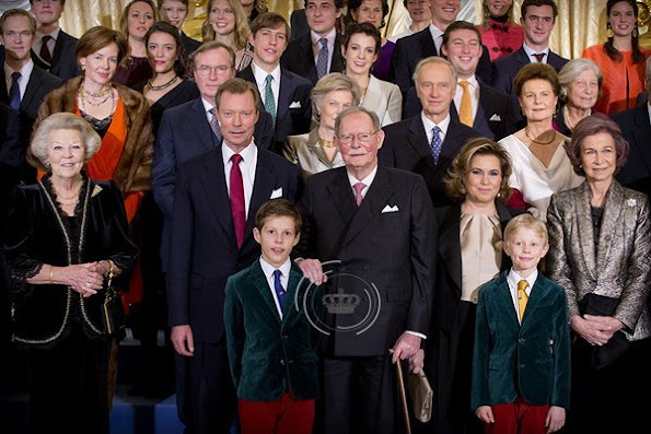 Archduchess Marie-Astrid of Austria, Archduchess Marie-Christine of Austria, Comte Rodolphe of Limburg-Stirum, Archduke Imre of Austria, Archduchess Kathleen of Austria, Archduke Christoph of Austria, Archduchess Adelaïde of Austria, Archduke Alexander of Austria, Archduchess Gabriella of Austria, Prince Nicolas of Liechtenstein, Princess Margaretha of Liechtenstein, Princess Maria-Annunciata of Liechtenstein, Princess Astrid of Liechtenstein,
