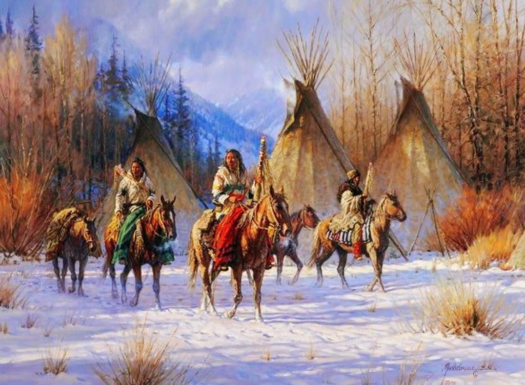 Pintura Moderna y Fotografa Artstica  Indios y Caballos