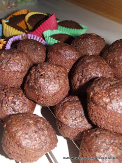 Toddler snack - hidden vegetable choc muffins