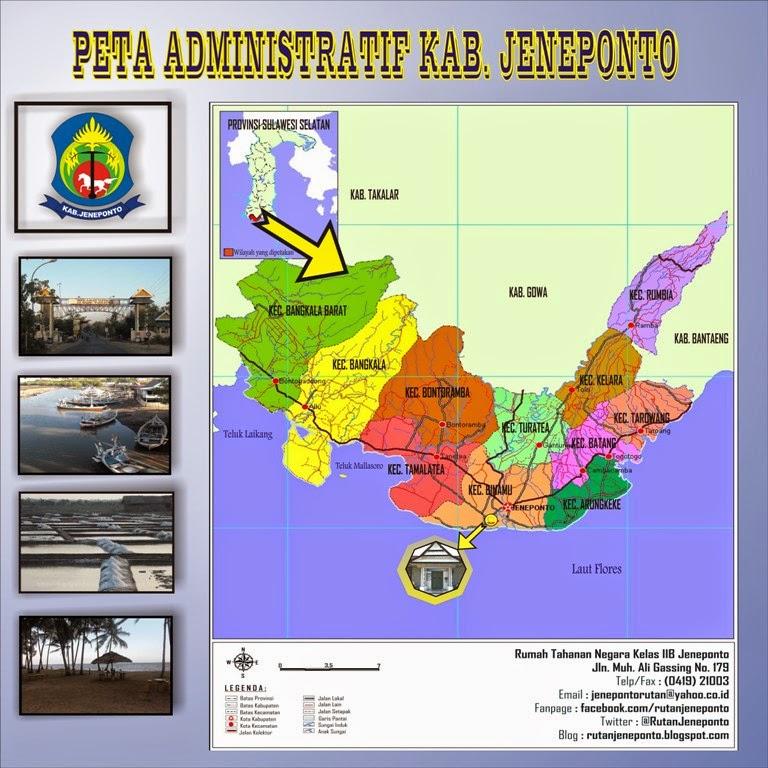Peta Administratif Jeneponto