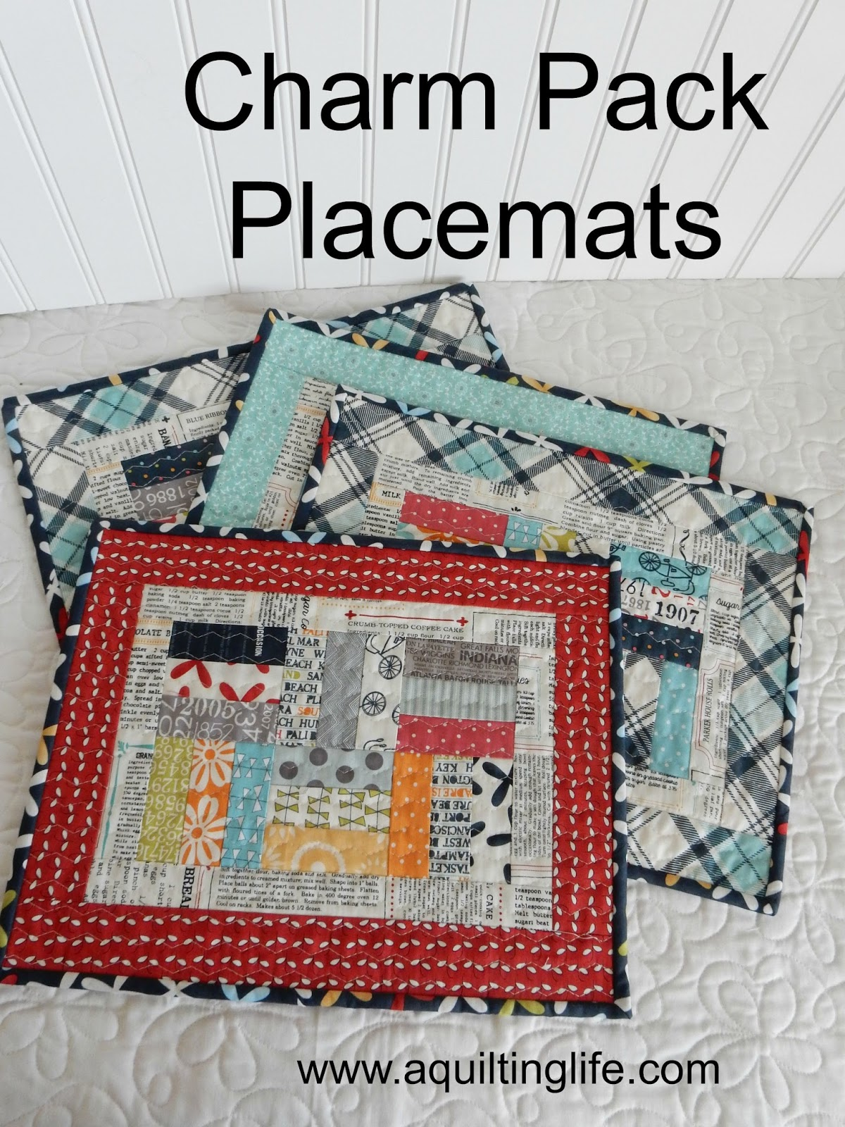 Charm Pack Patchwork Placemats Tutorial A Quilting Life