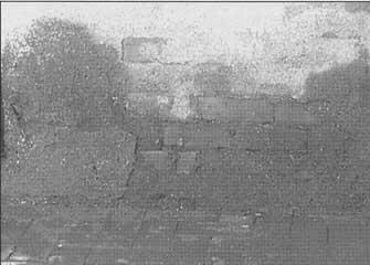 Desmoronamiento del enfoscado de cemento.