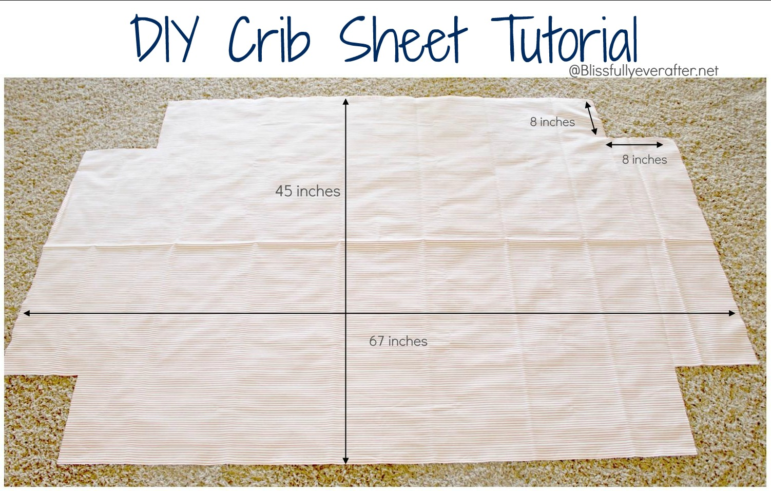 Make a super simple DIY crib skirt from a flat sheet. The best part is .