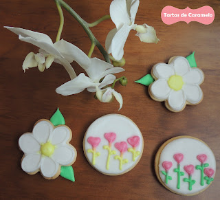 Galletas decoradas: flores